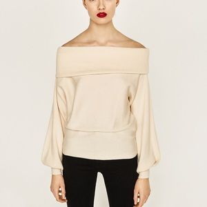 ZARA off the shoulder sweater NWT